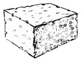 Bath sponge — Vector de stock