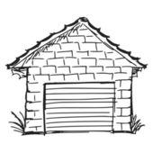 Garage — Stockvektor