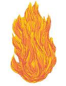 Bola de fuego — Vector de stock