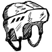 Hokeyi kaskı — Stok Vektör