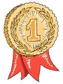 Gold-award — Stockvektor
