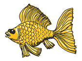 Goldfisch — Stockvektor