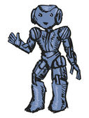 Roboter — Stockvektor