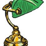 Bankers lamp — Stock Vector #51328175