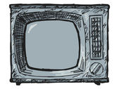 Vintage TV set — Stock Vector