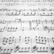 Royalty-Free Stock Photo: Old sheet music