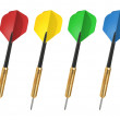 The Javelins for darts on white background. The Set. — Stock Photo
