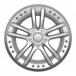 Car wheel on a white background — Stockfoto