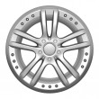 Car wheel on a white background — Stok fotoğraf