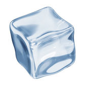 Ice cube on a white background — Stock Photo