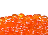 Red caviar on a white background — Stock Photo