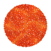 Red caviar isolated on a white background — Stock Photo