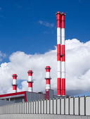 Power plant against the sky — Stock Photo