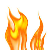 Flames on a white background — Stock Photo