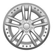 Car wheel on a white background — Stock Photo