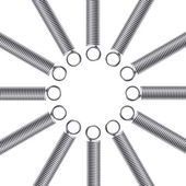 Metal springs on a white background. Abstract background — Stock Photo