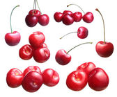 Fresh ripened red cherries. Set — Stock Photo