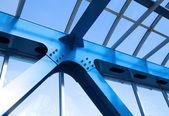 Steel beams. Fragment modern construction. — Stock Photo