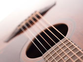 Acoustic guitar, abstract background — Stock Photo