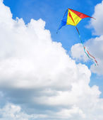 Kite flying in the sky — Stock Photo