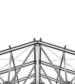 Build roof. Fragment metal framework on a white background. — Stock Photo