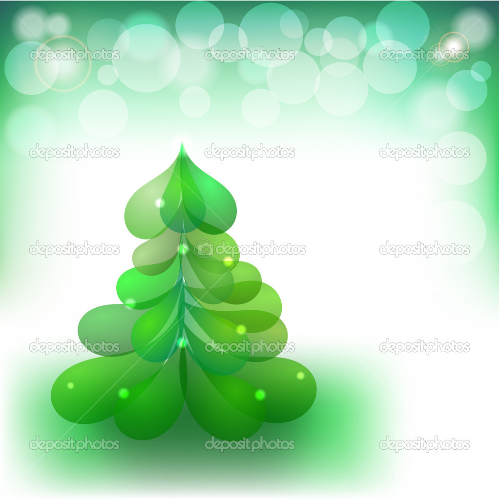 Christmas background with the image of the Christmas tree. eps10 — Stock Vector #13308302
