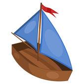 Ilustracja mały statek. eps10 — Wektor stockowy