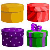 Set of gift boxes round. eps10 — Stock Vector
