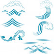 Set of characters water — Stock Vector