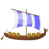 Cartoon Viking ship. eps10 — Stock Vector