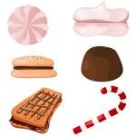 Set of sweets. Cartoon. eps10 — Stock Vector