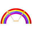 Cartoon rainbow swing. eps10 — Stock Vector