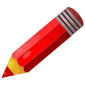 Cartoon red pencil. eps10 — Stock Vector