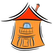 Casinha de desenhos animados. eps10 — Vetorial Stock