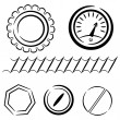 Stock Vector: Cartoon set of industrial elements. eps10