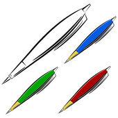 Cartoon pen. eps10 — Stock Vector