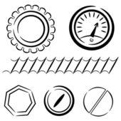 Cartoon set of industrial elements. eps10 — Stock Vector