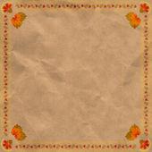 Ukrainian floral ornament on vintage paper background. eps 10 — Stock Vector