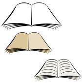 Karikatür açık bir kitap. eps10 — Stok Vektör