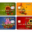 A set of credit cards with floral designs. eps10 — Stock Vector