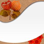 петриковской росписи. старинные цветочным орнаментом. eps 10 — Cтоковый вектор