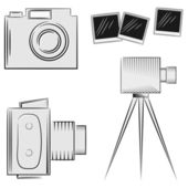 A set of cameras. eps10 — Stock Vector