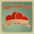 Vintage greeting card with a happy Valentine's Day. eps10 — Vettoriale Stock  #17157045