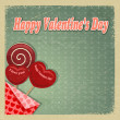 Retro card for Valentine's Day. eps10 — Stockvectorbeeld