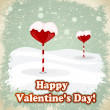 Royalty-Free Stock Vector Image: Sweets in the form of hearts in the snow. eps10