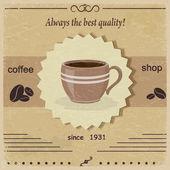 Vintage label coffee shop. eps10 — Stok Vektör