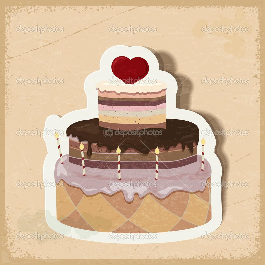 торт открытка: