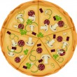 Pizza on a white background. Isolate. - Stockvectorbeeld