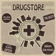 Vintage sign for drugstores — Stock Vector #19023395