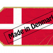 Vintage label with the flag of  Denmark - 图库矢量图片
